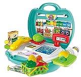#5: Vivir High Quality 23 Pieces Cash Register Organic Shop Play Set Toys for Kids ( Supermarket Cash Register Organic Shop Set for Kids )