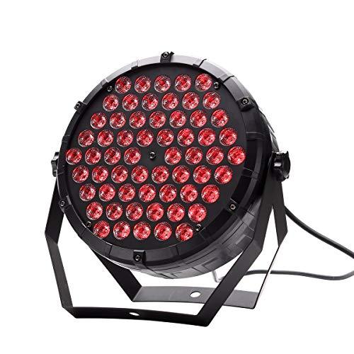 U`King 60 Led Par Scheinwerfer Lichter Discolicht RGB 3 IN 1 80W Partylicht DMX512 für KTV Disco Musik Party Show Bar