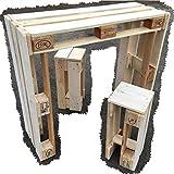 Palettenmöbel ~ Sitzgarnitur aus Europaletten ~ Tisch + 2 Hocker