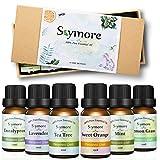 Skymore Top 6 Set di Olio Essenziale,può Usare nel Diffusore, Puri al 100% -Menta Piperita, Tea Tree,Citronella, Lavanda, Eucalipto,Arancia dolc