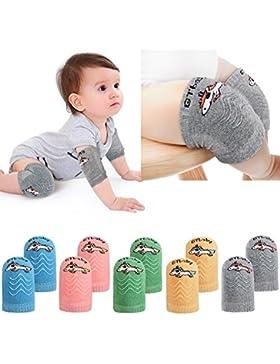 Tacobear 5 Paar Baby Knieschoner Krabbelschoner Krabbelhilfe anti-Rutsch Verstellbarer Elastische Einhorn Kniebandage...