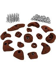 15 presas set de iniciación para niños, tornillos y 30 tuercas de inserción inclusive, Color:rojo-moteado