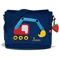 Kindergartentasche & Kindergartenrucksack in einem: Bagger für Jungen (mit Namen)