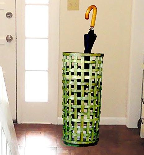 Vintiquewise Raufaser eingewoben Schirmhalter, Holz, licht grün