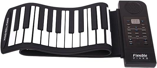 Lysport Flexible Portable 61 Keys Universal Flexible Roll Up Electronic Piano Soft Keyboard Piano Music Instrument