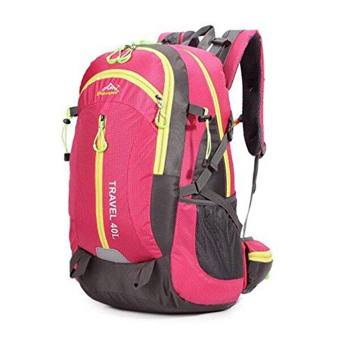Wmshpeds 40L Sport Borsa da viaggio Fashion grande capacità alpinismo outdoor casual borsa tracolla zaino dello studente C