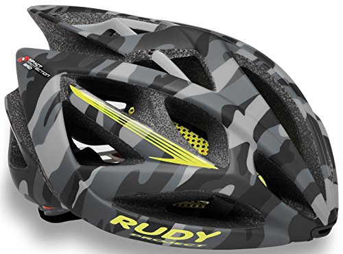 Rudy Project Casco Airstorm, Grey Camo/Lime Fluo (Matte)