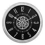 SMC 12 pouces grand rétro décoration mur moderne mécanique mouvement de l'engin tournant mouvement roue horloge suspendue, fonctionnant à piles