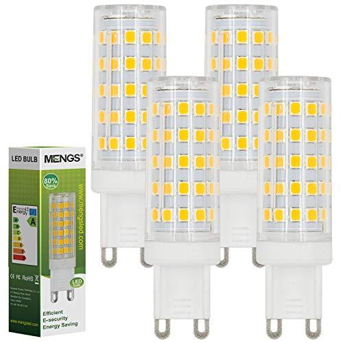 MENGS 4 Pack de Lampada a LED G9 10W=80W Lampadine a LED, Luce a LED Bianco Caldo 3000K AC 220-240V 800LM con il materiale del PC