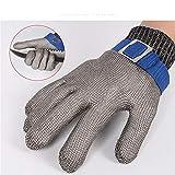 Longzhuo 1 STÜCKE Schnittschutzhandschuhe Hohe Qualität Sicherheit Schnittfest Handschuhe Langlebig Edelstahlgewebe Arbeitshandschuhe Schnittschutz für die Küche Garten