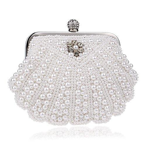 Damen Handschuhe aus Spitze mit kleinen Perlen - Stulpen Schwarz in Einheitsgröße für Hochzeit, Oper, Ball, Fasching, Karneval, Tanzen, Halloween (Farbe ()