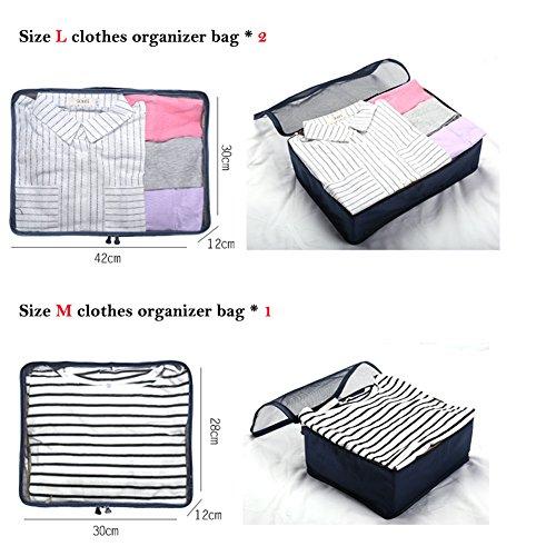 Ewparts 7 Pack Travel Packing Organizer Set, Verpackung Cubes Essential Taschen in Bag Travel Storage Wasserdichte Nylon Drawstring Dry Bag, für Kleidung Koffer Gepäckaufbewahrung Wäschebeutel (Teal) Watermelon