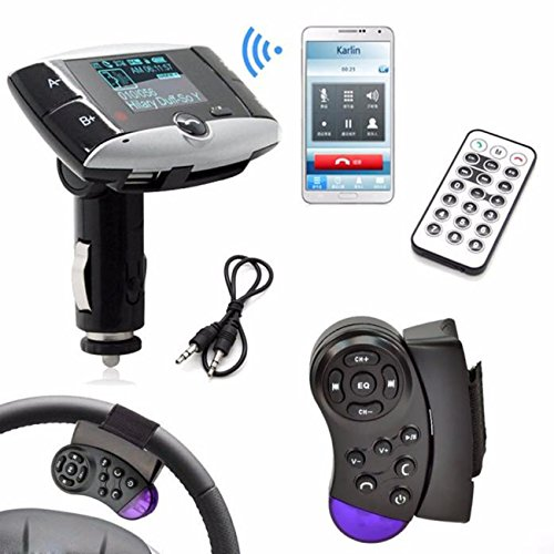 Colorful(TM) Bluetooth FM Transmitter,1.5''LCD Car Kit MP3-Player Bluetooth FM Transmitter SD MMC USB-Fernbedienung Car Kit Mp3-player