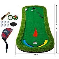 JHGEF Golf Putting Mat Golfmatte Golf Putter Putter Pad Trainingsmatte Office Home tragbaren 300 * 95 cm