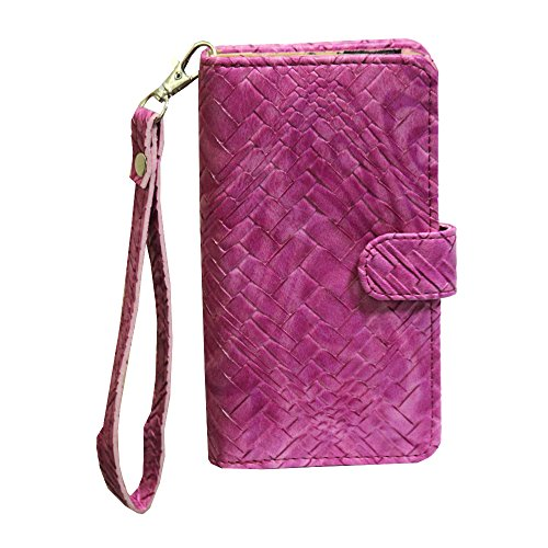 J Cover A9 Bali Leather Carry Case Cover Pouch Wallet Case For ZTE Blade S6 Plus Exotic Pink