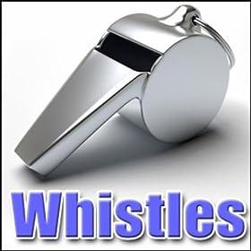Whistle, Referee - Hockey Referee Pea Whistle: Short, Whistles, Comic Noisemakers, Ice Hockey & Ice Skating