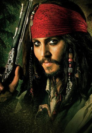 Johnny Depp Film-poster (PIRATES OF THE CARIBBEAN : DEAD MANS CHEST - Johnny Depp - US Textless Imported Movie Wall Poster Print - 30CM X 43CM Brand New Jack Sparrow)