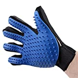 Pet Grooming Glove, Left 1 + Right 1 Pet Grooming Mitt Glove Guante Suave Deshedding Para Perro Y Gato Con Pelo Largo Y Corto Fur, Hair Remover Brush Guante Para Aseo De Mascotas, Masaje, Clean,1Pair