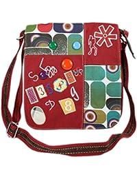 Jeans Tasche Schultertasche mit bunten Motiven Handtasche 9102
