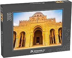 fotopuzzle.de Puzzle 2000 Teile Alte Große Moschee in Kairouan in der Sahara, Tunesien, Afrika. EIN wichtiges Ziel in Tunesien und Nordafrika