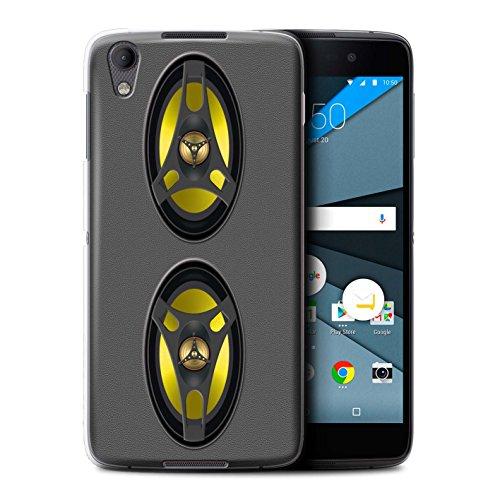 Stuff4 Hülle / Case für BlackBerry Neon/DTEK50 / Stereoanlage Muster / Lautsprecher Design Kollektion