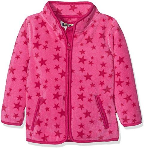 Playshoes Baby-Mädchen Fleecejacke Sterne Jacke, Rosa (Pink 18), 86