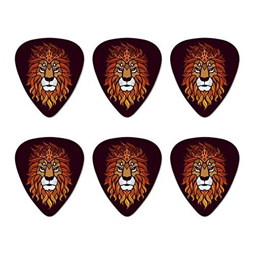 (Löwe Religiöse King Krone Bibel Christian Neuheit Gitarre Plektrum Plektron Picks Stärke Medium–Set of 6)