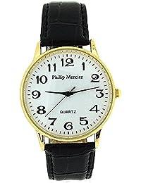 Philip Mercier SML42D - Reloj para hombres color negro