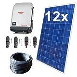 Solaranlage PV-Komplettset 3,36 KWp 3-Phasig Fronius 13 Module Photovoltaikanlage Wechselrichter