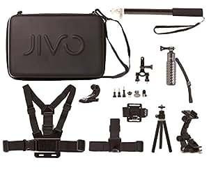Jivo Go Gear Kit d'Accessoires pour GoPro/Caméra d'Action Noir