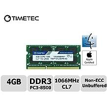 Timetec Hynix IC Apple DDR3 PC3-8500 1066MHz Memory Upgrade For iMac 20 inch /21.5 inch/24 inch /27 inch, MacBook Pro 13 inch/ 15 inch/ 13 inch, Mac mini 2009 2010 (4GB)