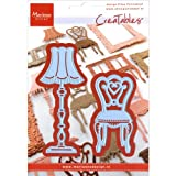 MARIANNE DESIGNS-Creatables Die. This die is wonderful to add an extra touch of design to any scrapbooking project. This 4-1/2x6-1/4 inch package contains two dies. Design: Eline's Chair & Lamp. Imported.