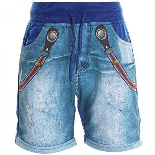 Jungen Kinder Cargo Kurze Hose Bermuda Shorts Capri Vintage Sport Strech 20412, Farbe:Blau;Größe:140