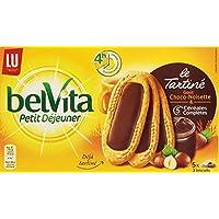 Lu Belvita Petit Déjeuner Le Tartiné Goût Chocolat Noisettes 5 Sachets de 3 Biscuits 250 g