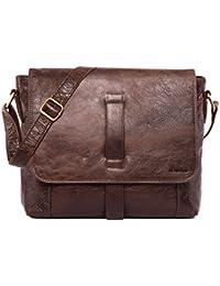 LEABAGS Sydney Neon sac de voyage en véritable cuir de buffle - NeonRed uY7EeFDm2p
