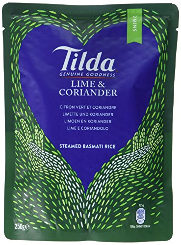 Tilda Steamed Lime & Coriander Basmati Rice, 6er Pack (6x250g)