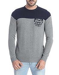 Jack & Jones Men's Cotton Sweater (5712834661726_Blue_XX-Large)