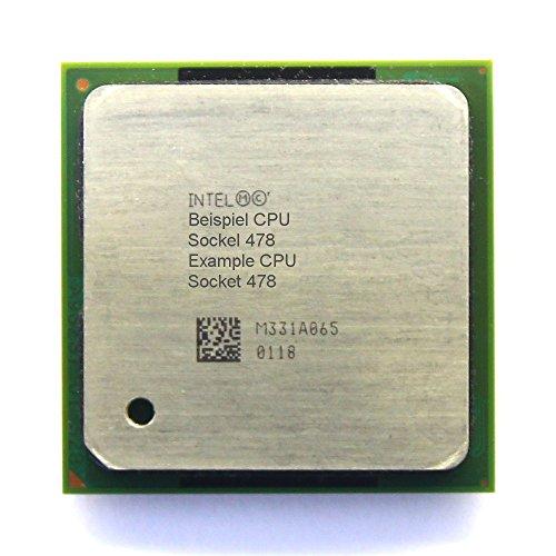 Intel Pentium 4 520/521 SL7E3 2.80GHz/1MB/800MHz FSB Socket/Sockel 478 HT PC-CPU (Zertifiziert und Generalüberholt)