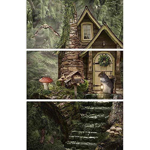 ArtzFolio Owl Delivers Scroll to The Mailbox Split Art Painting Panel On Sunboard 20.5 X 30.9Inch -