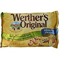 Werther's Original Toffee Duro Sin Azúcar de Mantequilla y Nata Fresca Sabor Manzana - 2 Paquetes de 1000 gr - Total: 2000 gr