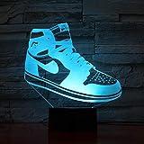 Hommes Jordan chaussures basket-ball veilleuse LED 3D Illusion tactile capteur garçons enfant enfants cadeaux lampe de Table chambre baskets jordan 3 aj 1 usb rechargeable lecture nuit de sommeil nour
