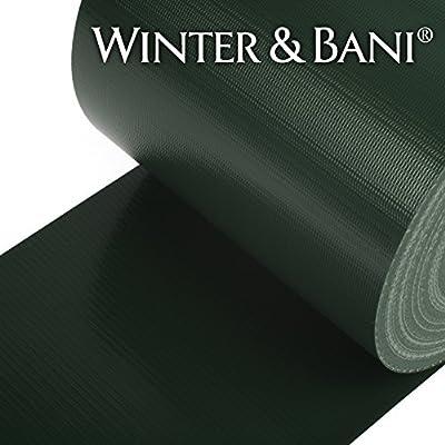Winter & Bani Sichtschutzstreifen 50 Meter x 19 cm | Diverse Farben von Winter & Bani - Du und dein Garten