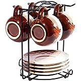 MyLifeUNIT taza de café accesorio de soporte, Metal taza de café soporte Rack, 6ganchos
