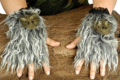Kostüm Zubehör Handstulpen Ratte Karneval Fasching (Kostüm Ratte Zubehör)