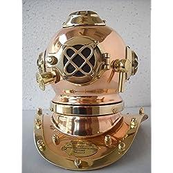 historicalmuseumstore envejecido reproducción mar Diver–buceo casco escritorio náuticas réplica rojo
