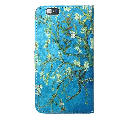 iPhone 6 6s Housse Coque, FoneExpert Etui Housse Coque en Cuir Portefeuille Wallet Case Cover pour iPhone 6 6s Color 6