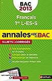 ANNALES BAC 2013 FRANCAIS 1ER