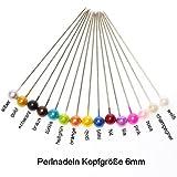 100 Perlennadeln Perlen Anstecknadeln Hochzeitsnadeln Nadel D 6mm L 65mm