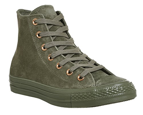 Converse Leather All Star, Unisex - Erwachsene Sneaker Burnt Olive Crystal Rose Exclusive