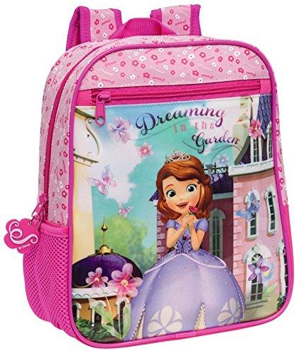 51 1mUHELEL - Mochila infantil escolar motivo PRINCESA SOFÍA 23 x 28 x 10cm(S)-Disney-4032151